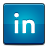 social, linked, in icon