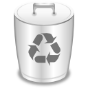 empty, trashcan, recycle bin icon