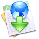 downloaded, file, paper, document icon