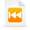 paper, document, file, rewind, orange icon