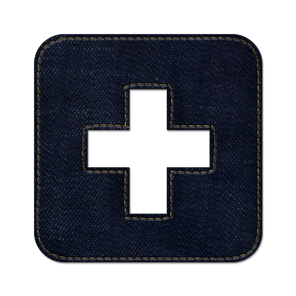 netvibes, logo, jean, denim, square, social icon