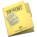 top, secret, folder icon