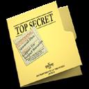 top, secret, folder icon