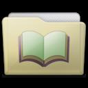 beige folder library alt icon