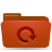 red, folder, backup icon