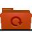 red, folder, backup icon