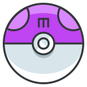 master, pokemon, go, play, game, ball icon
