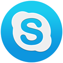 basic, skype, skypeflat, round, logo, macos, blue, circle, shape icon