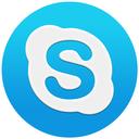 basic, skype, skypeflat, round, logo, macos, blue, circle, shape icon