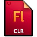 Clr, Document, File, Flash icon