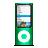 ipod, green, nano icon