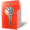 key, secure, folder icon