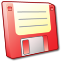 disk, floppy, save, disc, red icon