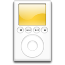 ipod, mp3 player, orange icon