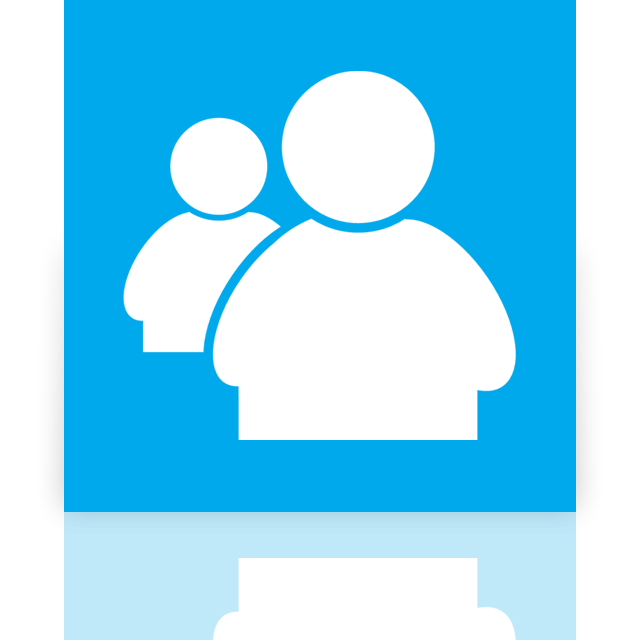 messenger, mirror, live icon
