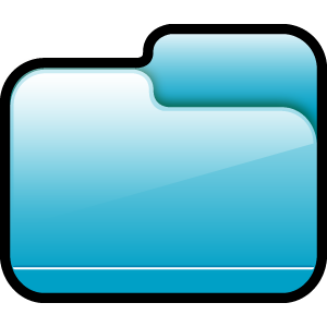 folder, blue, closed icon