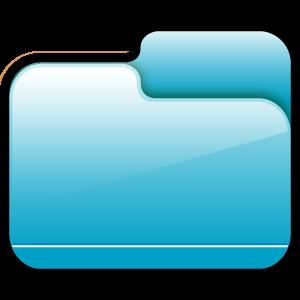folder, blue, closed icon