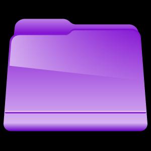 folder, violet, generic icon