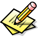 write, file, draw, writing, edit, pencil, paper, paint, pen, document icon