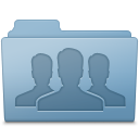 Blue, Folder, Group icon