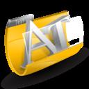 text, folder icon