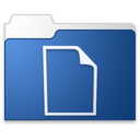 documents blue icon