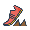 run, running, sneakers, resolutions, goal, marathon, shoes icon