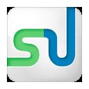 social, stumbleupon, white, box icon