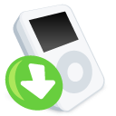 ipod, downloads icon