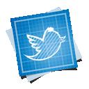bird, social, twitter, blueprint icon
