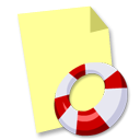 document, file, paper, help icon