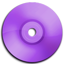 Cd, Dvd, Purple icon