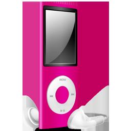 off, nano, pink, ipod icon