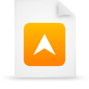 document, file, paper, orange icon