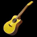 instrument, guitar, yellow icon