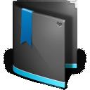 Black, Favorites, Folder icon