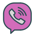 phone, brand, bubble, viber icon