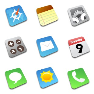 Comic iPhone icon sets preview