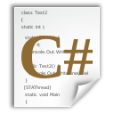 x, text, csharp icon
