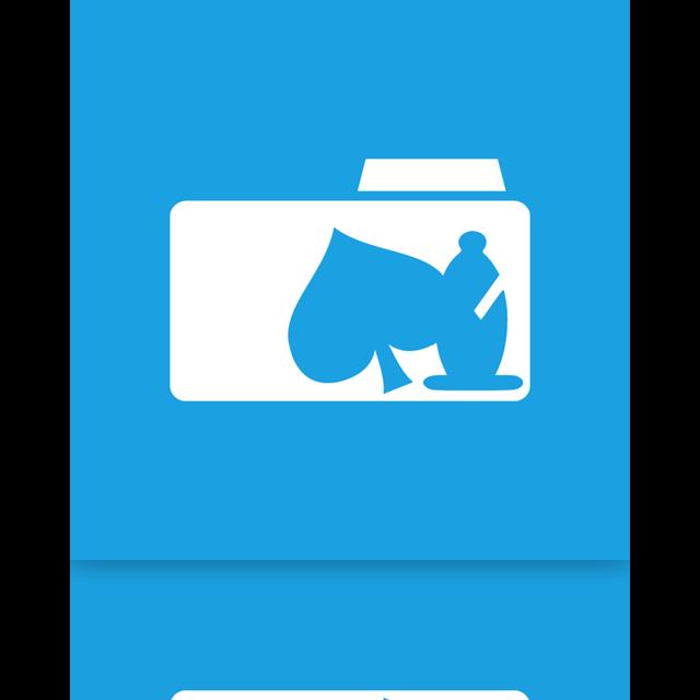 folder, mirror, game icon