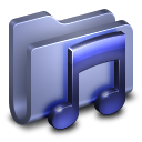 Music Blue Folder icon