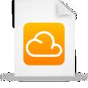 Cloud, Document, File, g, Orange, Paper icon