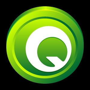 express, badge, quark icon