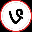 social, brand, vine, logo, media icon