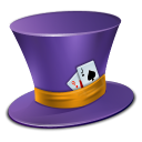 poker, cap, hat icon
