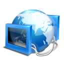 blue internet icon
