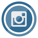 media, circle, social, instagram, multimedia icon