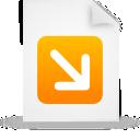 document, paper, orange, file icon