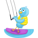 Summer waterskiing icon