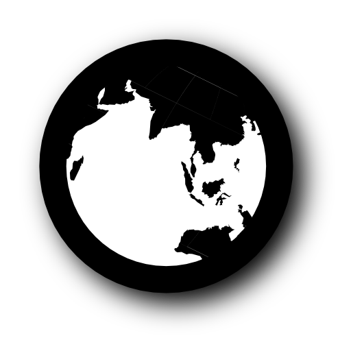 planet, globe, earth, black, world icon